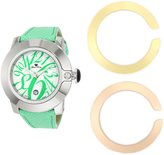 Glam Rock Women's GR32079 SoBe Dial Lime Green Leather Watch