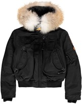 Parajumpers Faux Fur Hooded Gobi Boy Bomber Jacket