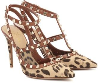 Valentino Garavani Rockstud leopard-print pumps