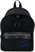 Saint Laurent mini City embroidered backpack