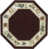 JCPenney Brumlow Fresh Fruit Washable Octagonal Rug