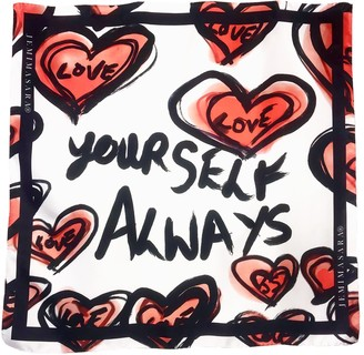 Jemimasara Love Yourself Always Silk Scarf
