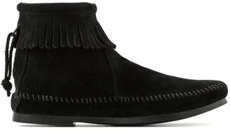 Minnetonka Suede Fringed Ankle Boots