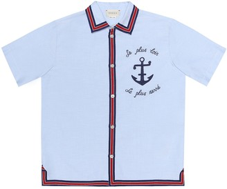 Gucci Kids Embroidered cotton shirt