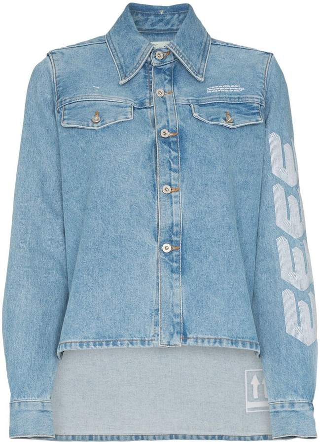 Off-White arrow embroidered denim jacket