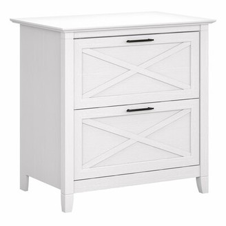 Beachcrest Home Cyra 2-Drawer Lateral Filing Cabinet Color: Pure White Oak