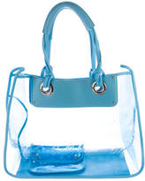 Dolce & Gabbana Leather-Trimmed PVC Tote