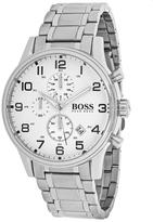 HUGO BOSS Aeroliner 1513182 Men's Silver Tone Stainless Steel Chronograph Watch