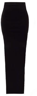 Rick Owens Double Slit-side Maxi Skirt - Womens - Black