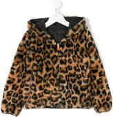 Save The Duck Kids leopard print reversible jacket