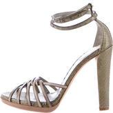 Reed Krakoff Snakeskin Multistrap Sandals w/ Tags