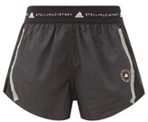 Thumbnail for your product : adidas by Stella McCartney Truepace Mesh-insert Recycled Fibre-blend Shorts - Black