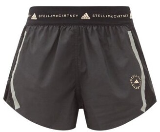 adidas by Stella McCartney Truepace Mesh-insert Recycled Fibre-blend Shorts - Black