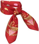 GUESS Small Silk Square Logo Scarf