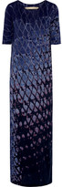 Raquel Allegra Signature Tie-dyed Cotton-blend Jersey Maxi Dress - Dark purple