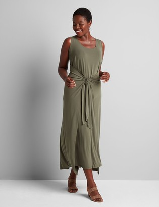 Lane Bryant Tie-Front Midi Dress