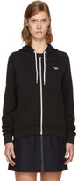 MAISON KITSUNÉ Black Tricolor Fox Patch Zip Hoodie