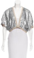 Schumacher Cropped Embellished Cardigan w/ Tags