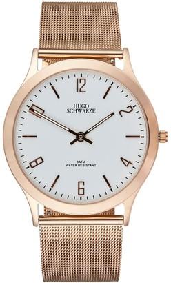 Bermuda Watch Company Hugo Schwarze Theodore Rose Gold, Brown & Grey Slim Interchangeable Mens Watch