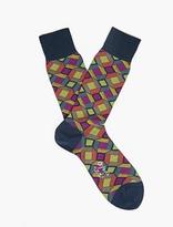 Ayame Navy Blue Kaleidoscopic Socks