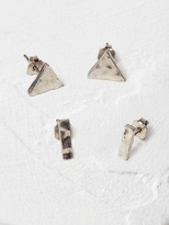 White Stuff Geo triangle earring 2 pack
