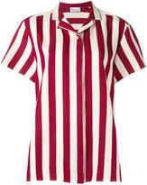 RED Valentino striped short-sleeve shirt - women - Silk/Cotton - 40