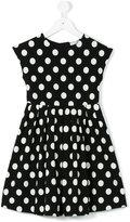 Dolce & Gabbana polka dot print dress - kids - Cotton/Spandex/Elastane - 8 yrs