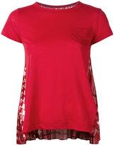 Sacai scarf print T-shirt - women - Linen/Flax/Polyester - 1