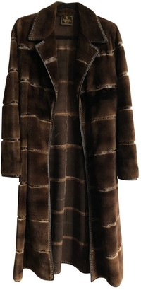 Fendi Brown Fur Coat for Women Vintage