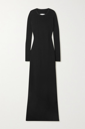 Givenchy Open-back Cutout Knitted Maxi Dress - Black