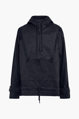 Reebok x Victoria Beckham Grosgrain-trimmed Cotton-twill Hooded Jacket