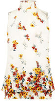 """Oasis BORDER FLORAL HIGH NECK SHELL [span class=""""variation_color_heading""""]- Multi Natural[/span]"""