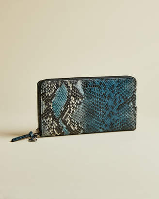 Ted Baker EMANUAL Exotic leather zip charm matinee purse