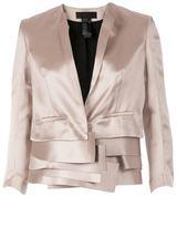 Haider Ackermann multi-layered cropped jacket - women - Silk/Polyester/Rayon - 38