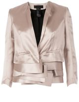 Haider Ackermann multi-layered cropped jacket