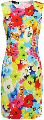 Love Moschino Floral-print Stretch-cotton Poplin Mini Dress