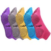 Ekouaer Yoga Socks Non Slip Skip Full Toe Grips for Pilates Barre Women