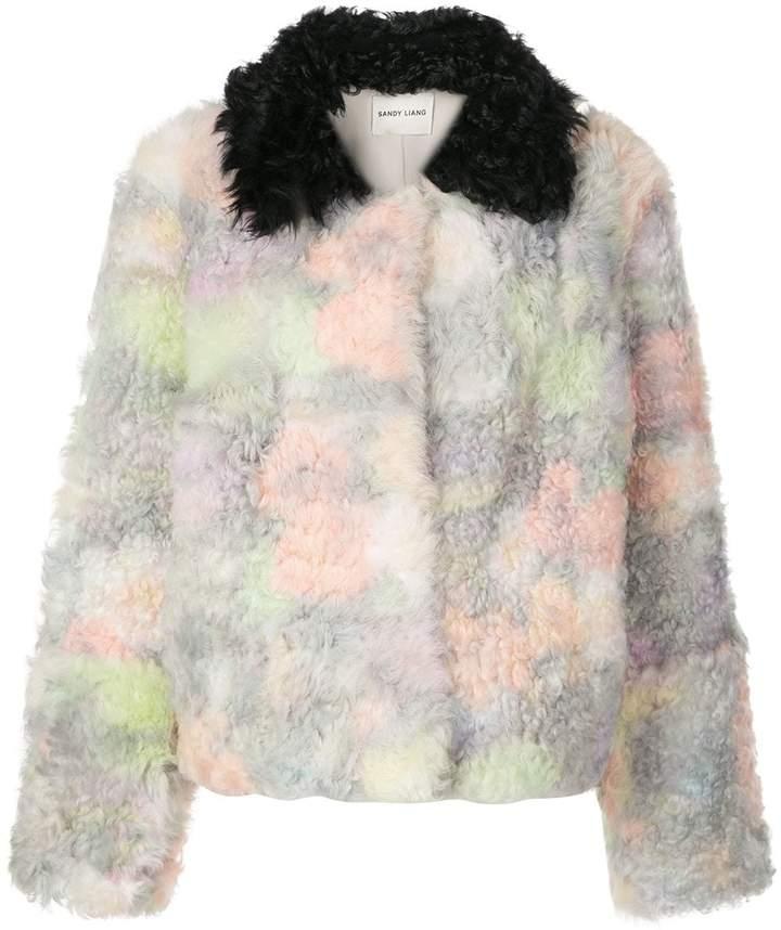 Sandy Liang Rainbow shearling coat