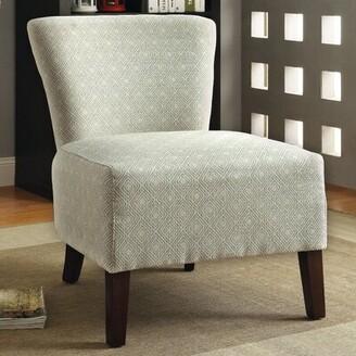 "Hokku Designs Menara 28"" W Slipper Chair Upholstery: Ivory"