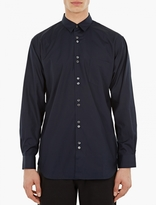 Comme Des Garcons Shirt Navy Double-button Cotton Shirt