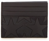 Valentino Canvas And Leather Cardholder