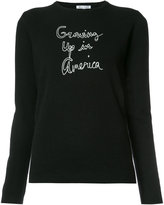 Bella Freud cashmere Growing Up in America jumper - women - Cashmere - XS