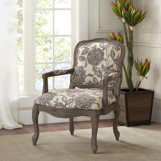 Madison Home USA Charlotte Camel Back Exposed Wood Chair