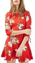 Topshop Women's Ruffle Floral Tea Dress