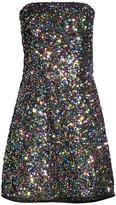 Shoshanna Coralie Sequin Rainbow Dress