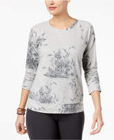 Style&Co. Style & Co Floral-Print Sweatshirt, Created for Macy's