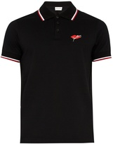 Saint Laurent Slow Kissing cotton polo shirt