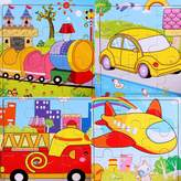 SIPLIV Wooden Puzzle 9-Pieces Jigsaw Puzzle for 2 to 5 Years Old Kids , Set of 4