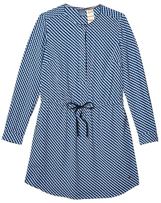 Tommy Hilfiger Adaptive Prague Shirtdress (Olympian Blue/Multi) Women's Clothing