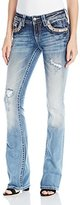 Miss Me Women's Mid Rise Embroidered Boot Cut